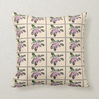 Chinese Evergreen plant pink bow, pillow