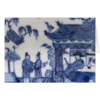 Chinese Export blue & white scene from 1760 Card