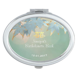 Chinese Fall Wedding Bachelorette Party Favor Mirror For Makeup