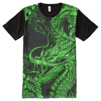 Chinese Fantasy Jade Emperor Dragon Art All-Over-Print T-Shirt