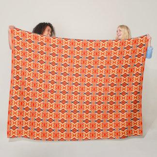 Chinese Fire Dragon Element Silk Pattern Fleece Blanket