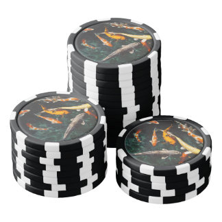 Chinese fish swim in the water poker chips