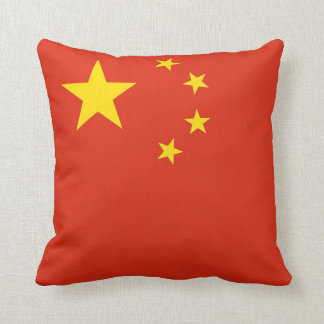 Chinese Flag American MoJo Pillow