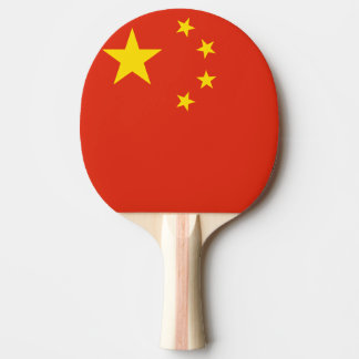 Chinese flag ping pong paddle for table tennis