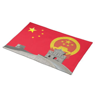Chinese flag placemat