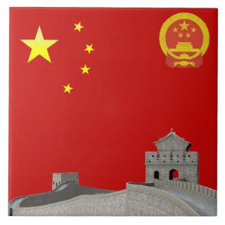 Chinese flag tile
