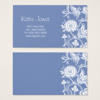 Chinese Floral Batik Profile Cards