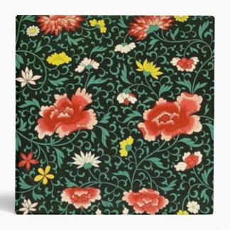 Chinese floral green album binder