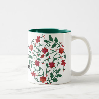 chinese floral Two-Tone coffee mug