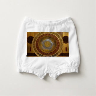 Chinese flower plaque diaper cover