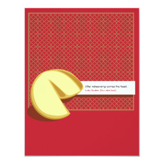 """Chinese Fortune Cookie Rehearsal Invitation 4.25"""" X 5.5"""" Invitation Card"""