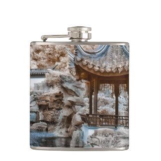 Chinese Garden Infrared Hip Flask