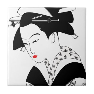 Chinese Geisha Tile