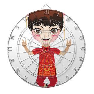 Chinese Girl Dartboard