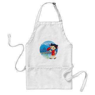 Chinese girl standard apron