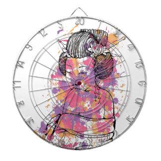 chinese girl vintage design dartboard