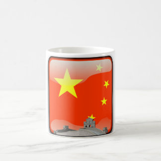 Chinese glossy flag coffee mug