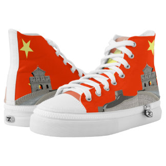 Chinese glossy flag high tops