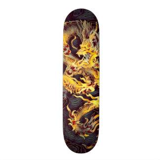 Chinese Gold Emperor Dragon Element Custom Pro Skate Decks