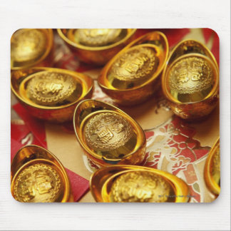 Chinese gold ingots mouse pad