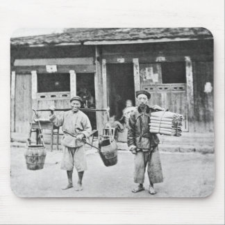 Chinese Hawkers, c.1870 (b/w photo) Mouse Pad