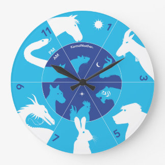 Chinese Hours - Chinese zodiac Large Clock