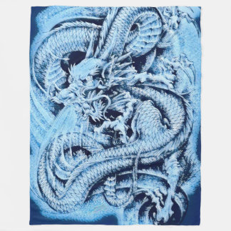 Chinese Ice Dragon Fleece Blanket