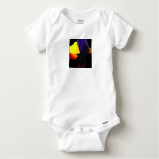 Chinese inks on paper drying +computer graphics baby onesie