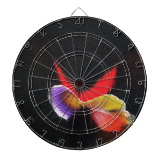 Chinese inks on paper drying + computer graphics dartboard