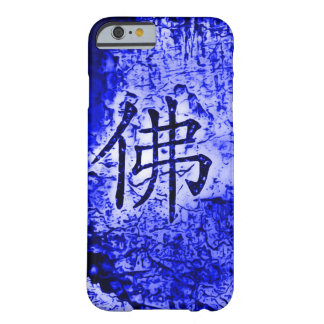 Chinese Inner Peace Symbol Blue Grunge Art Case Barely There iPhone 6 Case