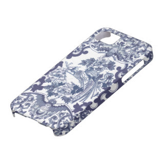 Chinese inspired blue pattern with birds toile iPhone 5 covers