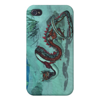 Chinese / Japanese Water Dragon i iPhone 4 Cases