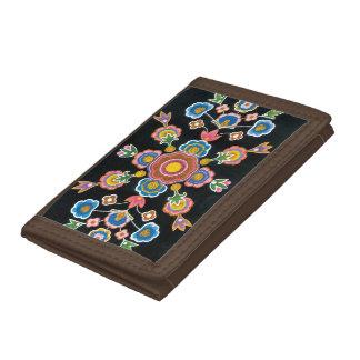 Chinese Kazakh Design 06 Tri-fold Wallets