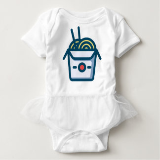 Chinese Kung Pao Noodles Baby Bodysuit