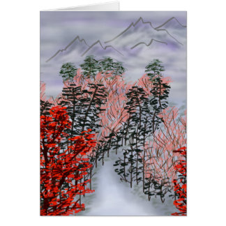 Chinese landscape card