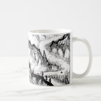 chinese landscape coffee mug