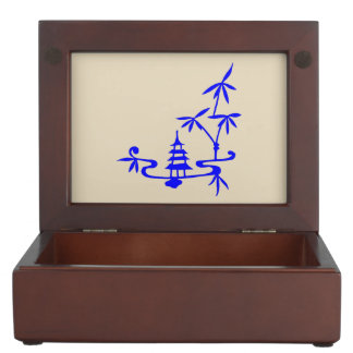 Chinese Landscape Keepsake Box