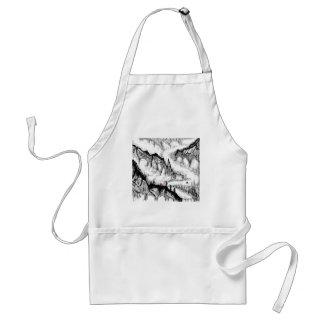 chinese landscape standard apron