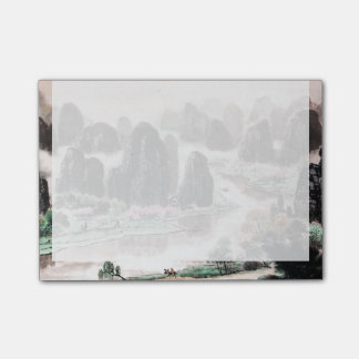 Chinese Landscape Watercolor Post-it® Notes (4x3)