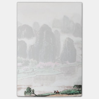 Chinese Landscape Watercolor Post-it® Notes (4x6)