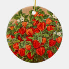 Chinese Lantern Plant Ceramic Ornament