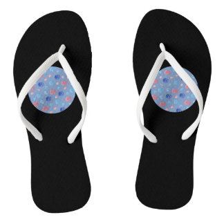 Chinese Lanterns Adult Slim Straps Flip Flops