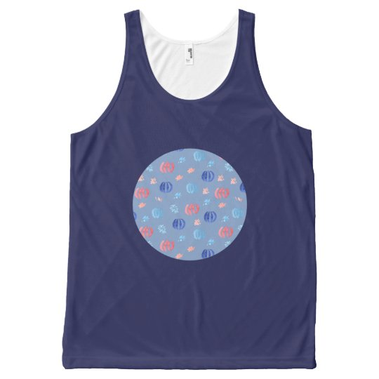 Chinese Lanterns All-Over Printed Tank Top