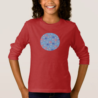 Chinese Lanterns Girls' Long Sleeve T-Shirt