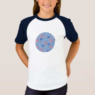 Chinese Lanterns Girls' Raglan T-Shirt