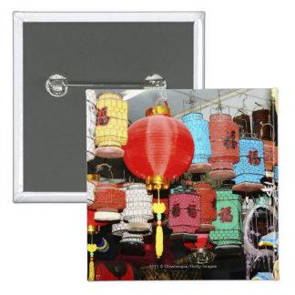 Chinese lanterns in China Pinback Button