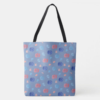 Chinese Lanterns Large All-Over Printed Tote Bag