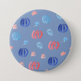 Chinese Lanterns Large Round Button