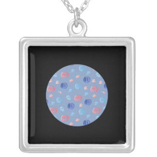 Chinese Lanterns Large Square Necklace