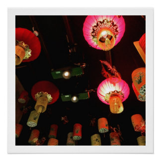Chinese Lanterns Perfect Poster